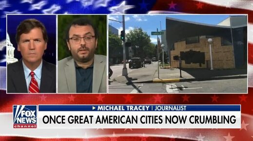 michael tracey tucker carlson riots