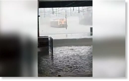 train flood