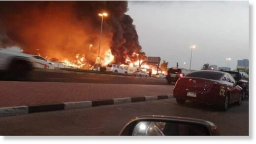 uae market fire