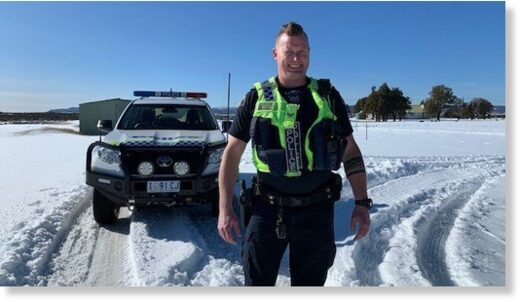 Senior Constable Dan Adams said police sometimes have to leave stranded vehicles until the snow melts.