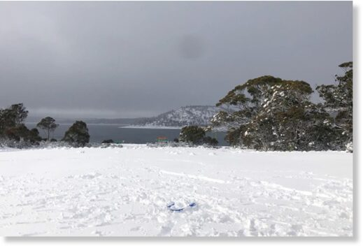 Snow blanketed the Central Highlands this week including at nearby Miena.