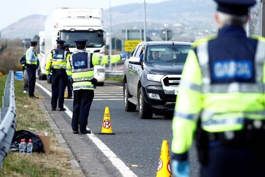 police ireland checkpoint covid-19