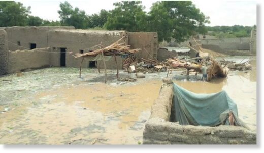 Floods in Niger, July 2020.