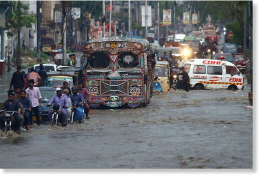 Flooding in Karachi, Pakistan, August 7