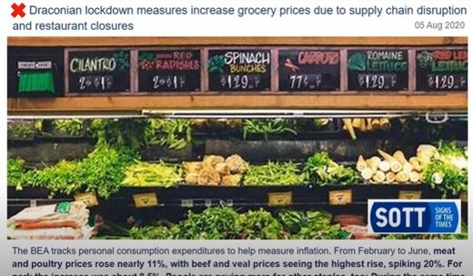 Food prices increase