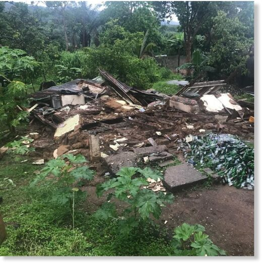 floods and landslides destroyed a house in Arima, Trinidad 08 August 2020.