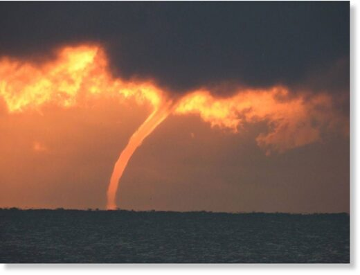 Waterspout over Lake Erie, off of Lorain, Ohio