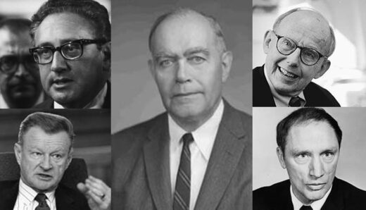 William Yandall Elliot Henry Kissinger Zbigniew Brzezinski Samuel Huntington Pierre Trudeau