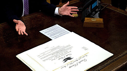 Trump and peace deal doc