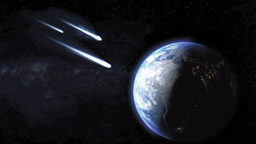asteroids earth artist conception