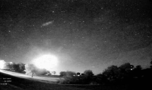 Fireball exploding over Iowa