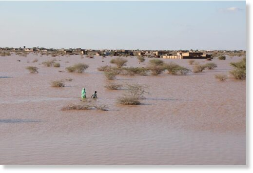 Floods in Blue Nile State, Sudan, August 2020.