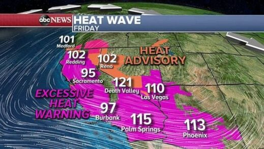 Heat map West Coast