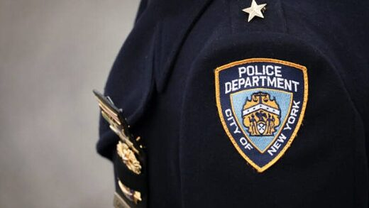 NYC police department uniform shoulder patch