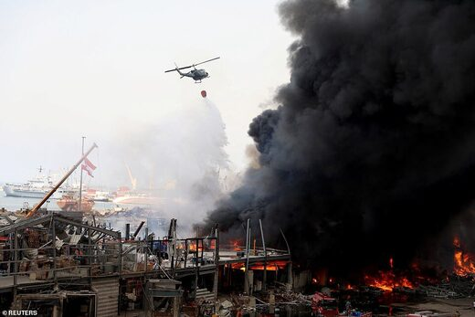 second fire beirut port