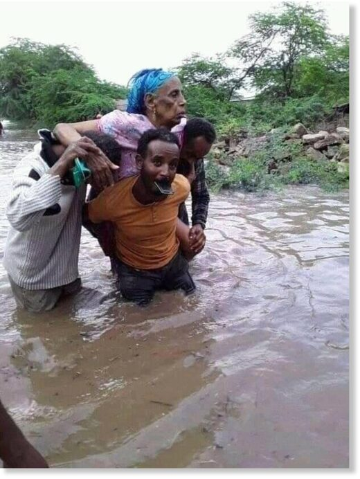 Evacuations after floods in Afar region, Ethiopia September 2020.