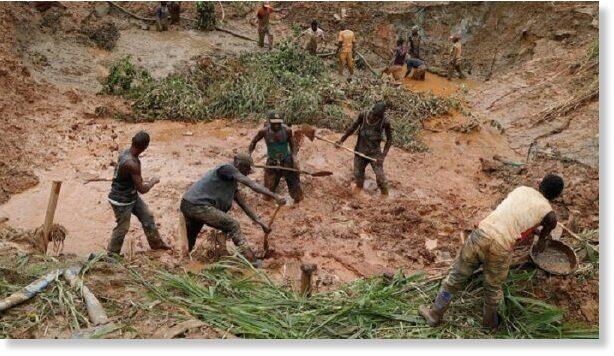 DR Congo gold mine collapse, 50 feared dead - Tatahfonewsarena
