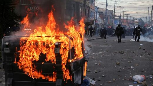 Police killing of social-distancing violator sparks riots across Colombia that leave seven dead