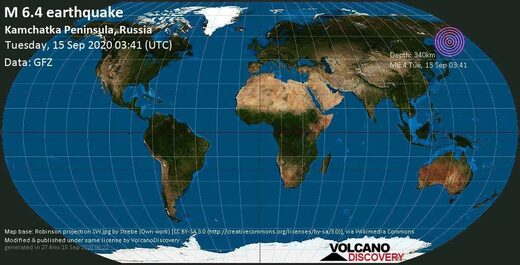 Russia quake map
