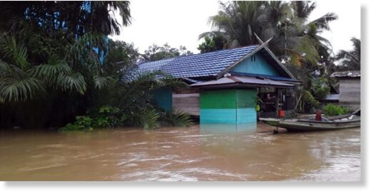 Floods in East Kotawaringin Regency, Central Kalimantan September 2020 .