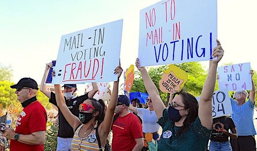 voting fraud protest
