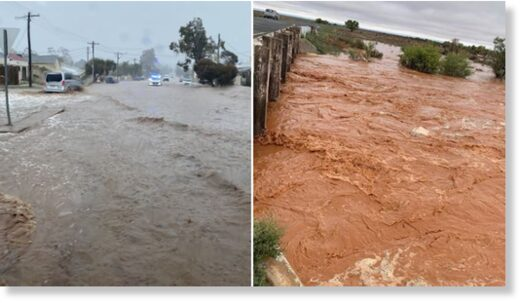Despite localised flooding, Broken Hill residents were delighted to see the rainfall.