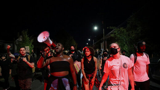 antifa blm neighborhood protest Portland