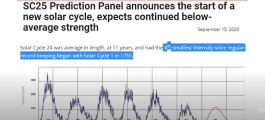 Solar Cycle 25 prediction