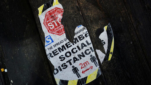 social distancing sign london