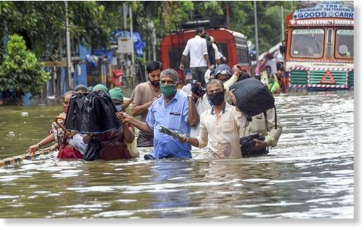 It's been raining heavily in the country's financial capital -Mumbai- sin