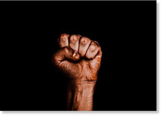 blm black power fist
