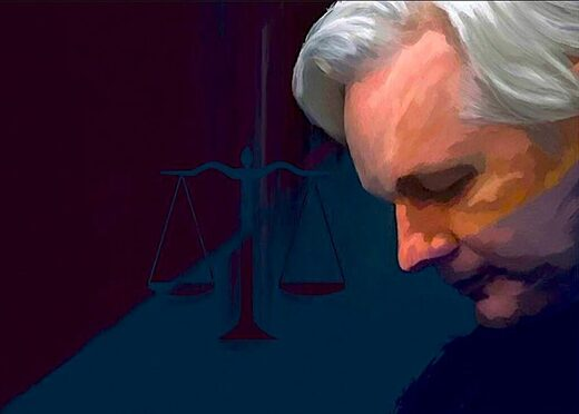 assange justice legal scales court hearing