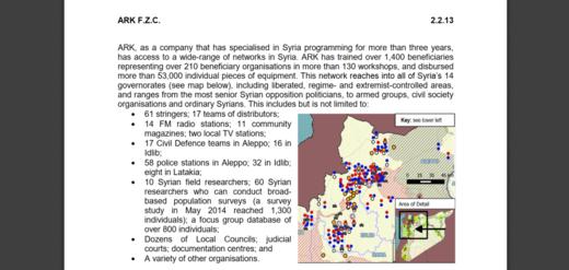 ARK anti-Syria propaganda network