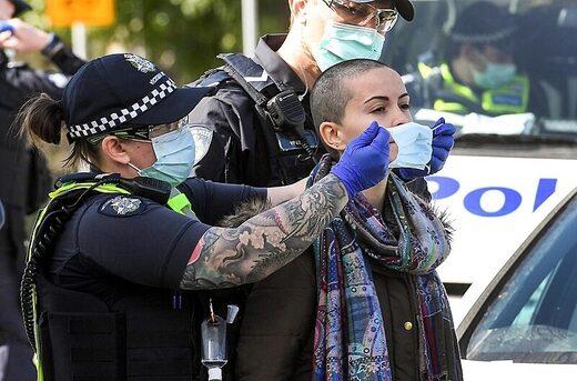 mask police protest australia