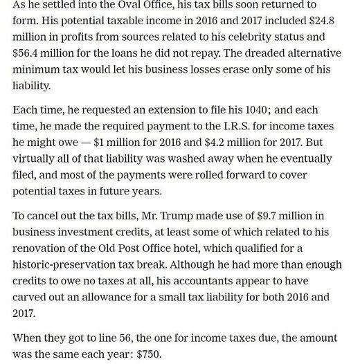 new york times trump tax returns