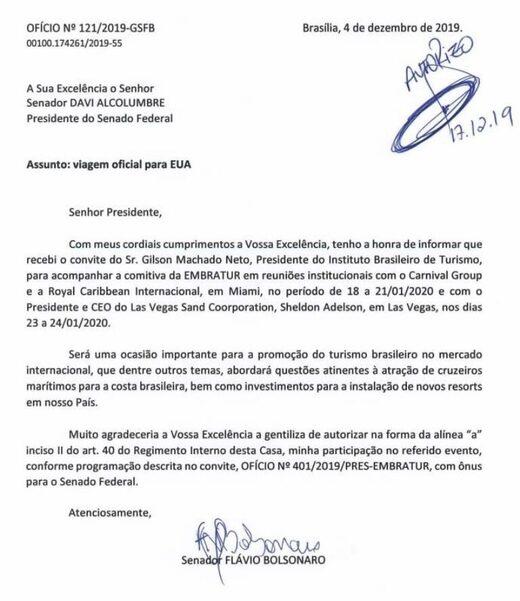 Flavio Bolsonaro adelson letter assange morales spy