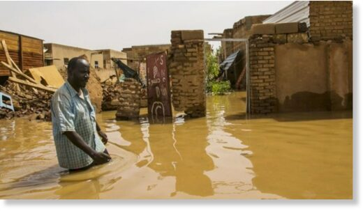 Floodwater in Sudan's capital, Khartoum, has destroyed people's homes.