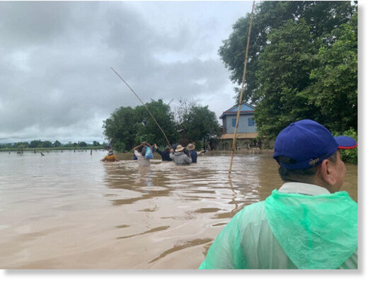 The heavy rains have caused flashfloods throughout Cambodia.