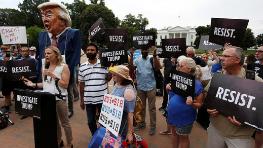 Russiagate protest, White House