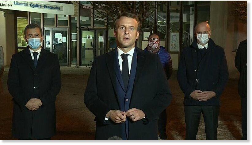 Macron addresses killing of 'beheaded' French teacher, an 'Islamist terrorist attack'