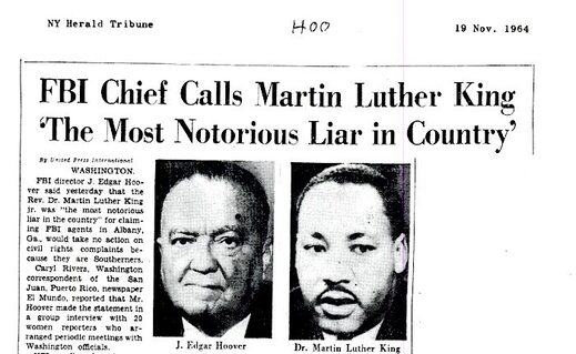 Martin Luther King news item