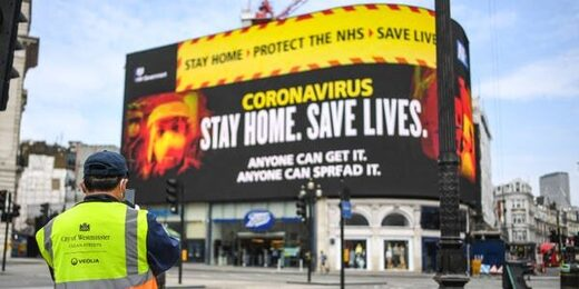 uk covid billboard