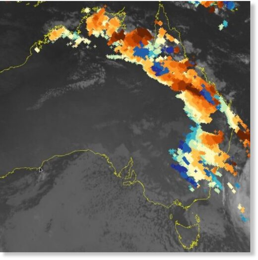 More than 2.24 million lightning strikes were recorded across Australia in the past 48 hours to Monday morning, October 26, 2020.