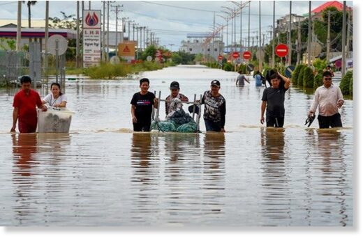 Flood recorded on the outskirts of Phnom Penh