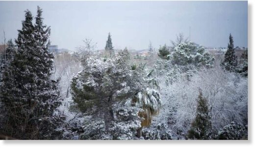 The first snow of the season was registered in Ciudad Juarez