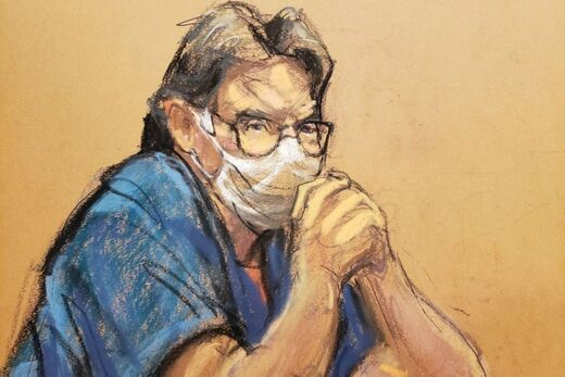 Keith Raniere court room sketch