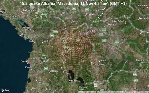 Macedonia quake map
