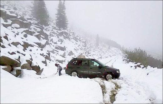 Rare June snow in in Khakassia aka 'Warm Siberia'.