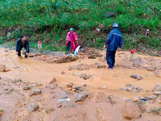 No respite for central Vietnam from landslides, flooding as 12th storm hits - at least 235 people killed or missing since October