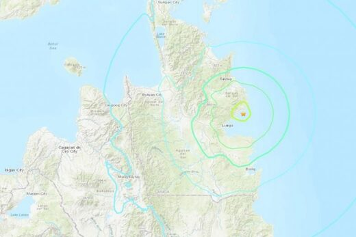 Philippines quake map